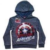 Dobakids Kapşonlu Çocuk America Baskılı Sweatshirt 7 12 Yaş
