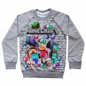 Dobakids Mevsimlik Erkek Çocuk Minecraft Sweatshirt 5 13 Yaş