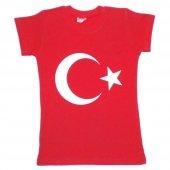 Dobakids Ay Yıldız Türk Bayrak Baskılı Kız Çocuk 23 Nisan Tişört
