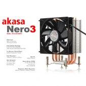 Akasa Nero 3 Ak Cc4013ep01 İntel Amd Full Alüminyum 12 Cm Fan İ