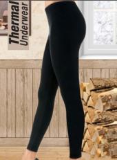 Bayan Siyah Tayt Termal İçlik
