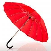 Euroschırm Metropolitan Şemsiye Kırmızı Dayanıklı Sağlam Şemsiye