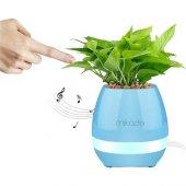 Mikado Md P15bt Mavi Tf Kart Destekli Çiçek Saksı Akıllı Dokun Bluetooth Speaker