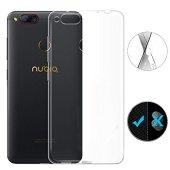 Zte Nubia Z17 Mini Silikon Kılıf + Nano Kırılmaz E...