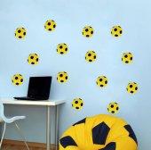 Sarı Lacivert Futbol Topu Sticker