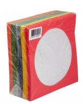 Cd&dvd Zarfı 80gr Pencereli Renkli Kağıt 100lük