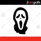 Otografik Scream Çığlık Maske Oto Sticker