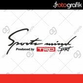 Otografik Toyota Trd Sports Mınd Oto Stıcker