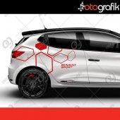 Otografik Rs Renault Clio Sport Oto Kapı Sticker Set