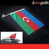 Otografik Azerbaycan Araç Bayrağı Oto Bayrak