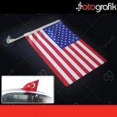 Otografik Amerikan Araç Bayrağı Oto Bayrak