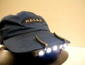 5 Ledli 3 Fonksiyonlu Şapka Feneri Lambası Beyaz Led