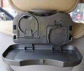 Araç Oto İçi Araba Koltuk Arkası Katlanabilir Portatif Tepsi