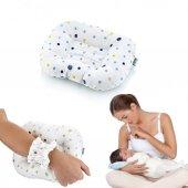 Bebek Emzirme Destek Yastığı Emzirme Destek Minderi Kız Renkleri