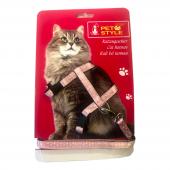 Pet Style Kedi Köğüs Bel Tasması Pembe