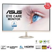 Asus 27 Vz27vq Led Curved Monitör Gold Siyah 5ms