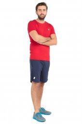 Leu Erkek Slim Fit Spor Kırmızı Tişort