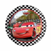 Cars Formula Kağıt Tabak 23 Cm 8 Adetli