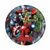 Avengers Power Kağıt Tabak 23 Cm 8 Adetli