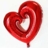 Folyo Balon İçi Boş Kalp Bln200 Helyum Balon Organizsyon Balo