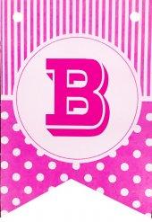Bayrak Banner Harfler (B) Pembe