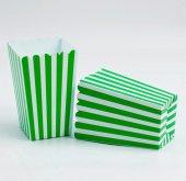 Mısır Kutusu Çizgili Yeşil Beyaz 12 Adetli