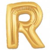 Folyo Balon Harf R Gold 40 İnc Helyum Balon Parti Doğum Günü