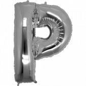 Folyo Balon Harf P Gümüş 40 İnc Helyum Balon Parti Doğum Günü