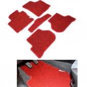 Vw Caddy Kırmızı Lüx Halı Paspas Seti 2003 2010