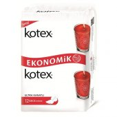 Kotex Ultra Kanatlı Gece Hijyenik Ped 12 Adet