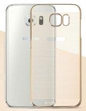 Totudesing Samsung Galaxy S6 Metalik Gold Kenarlı Çizgili Kılıf