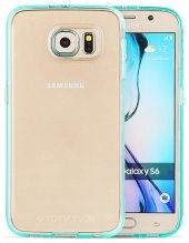 Totu Design Samsung Galaxy S6 Edge Yeşil Kenarlı Silikon Kılıf