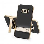 Samsung Galaxy S8 Plus Stand Gold Kılıf