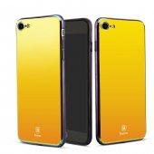 Baseus Glass Aynalı Gold İphone 8 Kılıf
