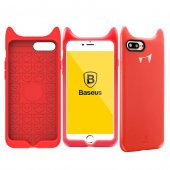 Baseus Devil Baby İphone 8 Plus Kılıf Kırmızı