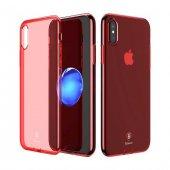 Baseus Simple İphone X Kırmızı Kılıf