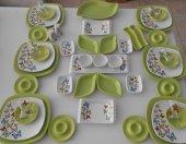 Keramika Butterflly Yesil Kahvaltı Takımı