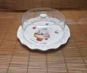 Cup Cake Kapaklı Kek Pasta Saklama Fanusu