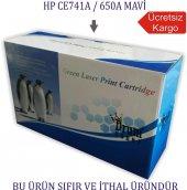 Hp Ce741a 650a (Cp5525) Mavi Muadil Toner