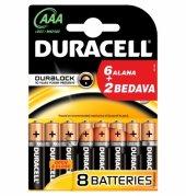 Duracell 6+2 Aaa Alkalin İnce Pil 8li Blister