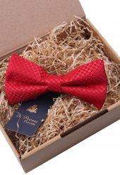 Küçük Desen Kırmızı Papyon P535