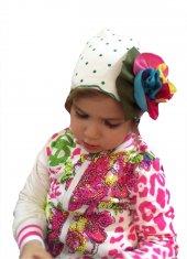 Babygiz Çiçek Aksesuarlı Şapka