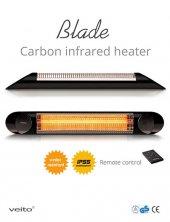 Veito Blade S 2500 Siyah Kumandalı Karbon Infrared Isıtıcı
