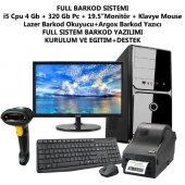 Barkod Sistemi Full Set İ5 Pc 19.5monitör + Okuyucu + Yazıcı