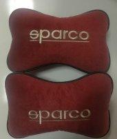 Sparco Yazılı Yastık Boyun Yastığı 2 Adet Bordo Renk