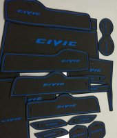 Honda Civic Fc 5 Araç İç Bölme Paspası Mavi Renk