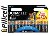 Duracell Turbomax Aa Kalem 8+4 Pil 12&#039 Li