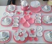 Keramika Pembe Butterfly Kahvaltı Takımı