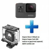 Gopro Hero 5 Black Aksiyon Kamerası Ve Super Suit Dahil Combo Set