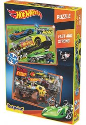 Hotwheels Fast And Strong 2in1 Puzzle 60 90 Parça 6854